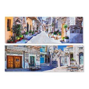 2 Pinturas DKD Home Decor Árabe 120 x 2 x 40 cm