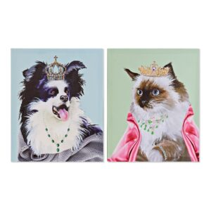 2 Pinturas DKD Home Decor animais Moderno 40 x 1.8 x 50 cm