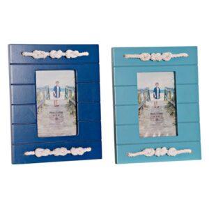 2 Molduras de Fotos Dekodonia Corda Madeira MDF (10 x 15 cm)