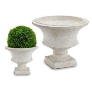 Vaso Pequeno Creme (20,2 x 16,5 x 20,2 cm)