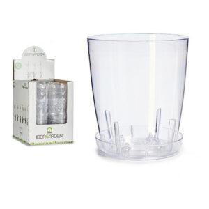 Vaso Transparente Plástico Transparente (18 x 18 x 18 cm)