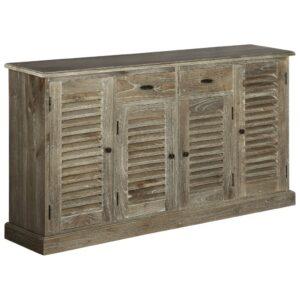 Aparador madeira mindi maciça 145x32,5x77 cm - PORTES GRÁTIS