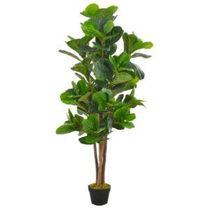 Planta figo folhas de violino artificial com vaso 152 cm verde - PORTES GRÁTIS