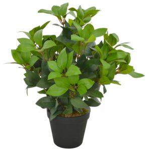 Planta loureiro artificial com vaso 40 cm verde - PORTES GRÁTIS