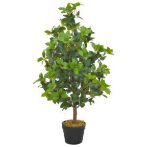 Planta loureiro artificial com vaso 90 cm verde - PORTES GRÁTIS