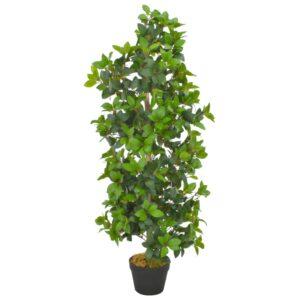 Planta loureiro artificial com vaso 120 cm verde - PORTES GRÁTIS