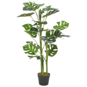 Planta costela-de-adão artificial com vaso 100 cm verde - PORTES GRÁTIS