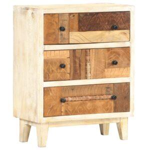 Móvel lateral 60x30x75 cm madeira recuperada maciça  - PORTES GRÁTIS