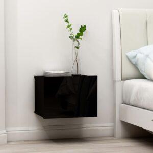 Mesa de cabeceira 40x30x30 cm contraplacado preto - PORTES GRÁTIS