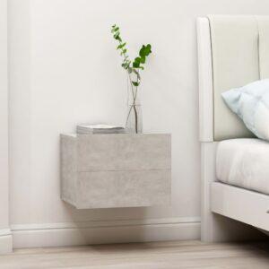 Mesa de cabeceira 40x30x30 cm contraplacado cinzento cimento - PORTES GRÁTIS