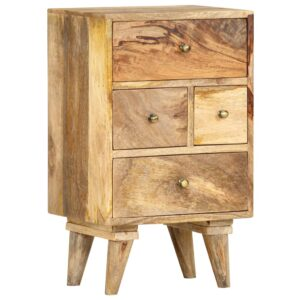 Mesa de cabeceira 36x30x60 cm madeira de mangueira maciça  - PORTES GRÁTIS