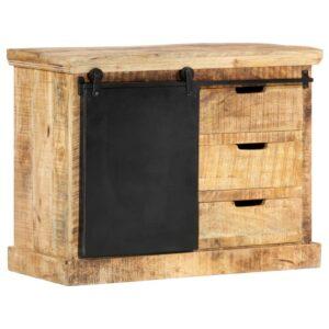 Aparador 80x30x60 cm madeira de mangueira maciça - PORTES GRÁTIS