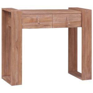 Mesa consola 90x35x75 cm madeira de teca maciça - PORTES GRÁTIS