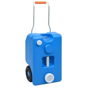 Tanque de água com rodas para campismo 25 L azul - PORTES GRÁTIS