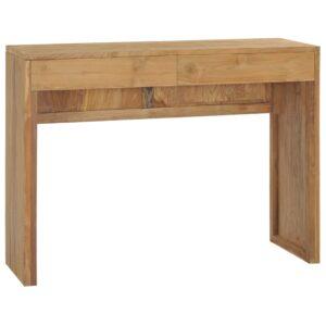Mesa consola 100x35x75 cm madeira de teca maciça - PORTES GRÁTIS