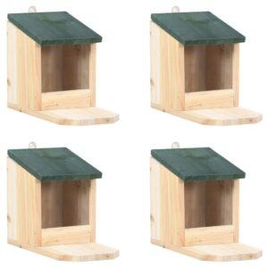 Casas para esquilos 4 pcs madeira de abeto - PORTES GRÁTIS