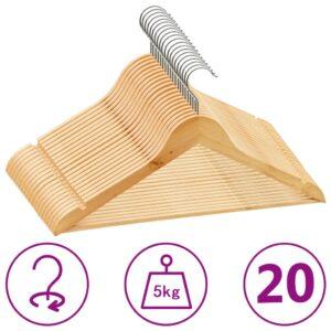 20 pcs conjunto de cabides antiderrapantes madeira  - PORTES GRÁTIS