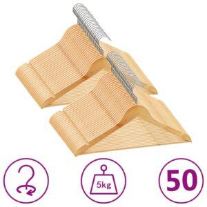 50 pcs conjunto de cabides antiderrapantes madeira  - PORTES GRÁTIS