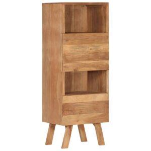 Armário alto 45x35x123 cm madeira de acácia maciça - PORTES GRÁTIS