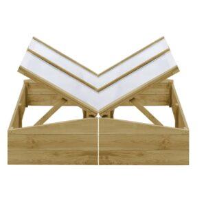 Estufas 2 pcs 100x50x35 cm madeira de pinho impregnada - PORTES GRÁTIS