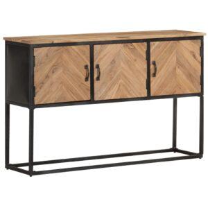 Aparador 120x30x75 cm madeira de acácia maciça - PORTES GRÁTIS