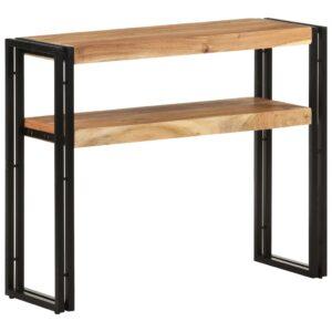 Mesa consola 90x30x75 cm madeira de acácia maciça - PORTES GRÁTIS
