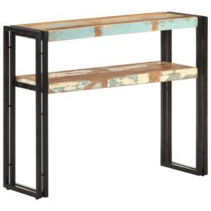 Mesa consola 90x30x75 cm madeira recuperada maciça - PORTES GRÁTIS