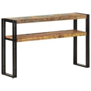 Mesa consola 120x30x75 cm madeira recuperada maciça - PORTES GRÁTIS
