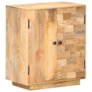 Aparador 60x35x70 cm madeira de mangueira maciça - PORTES GRÁTIS