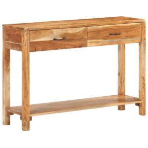 Aparador 110x30x75 cm madeira de acácia maciça - PORTES GRÁTIS