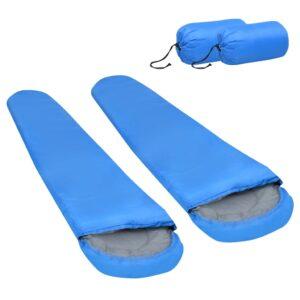 2 Sacos-cama leves 15 ℃ 850 g azul - PORTES GRÁTIS