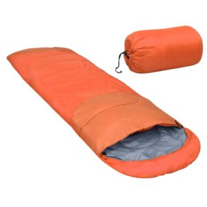 Saco-cama leve 15 ℃ 850 g laranja - PORTES GRÁTIS