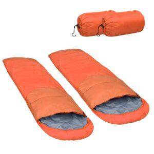 2 Sacos-cama leves 15 ℃ 850 g laranja - PORTES GRÁTIS