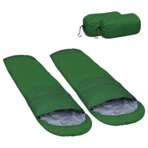 2 Sacos-cama leves 15 ℃ 850 g verde - PORTES GRÁTIS