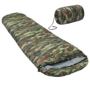 Saco-cama leve 15 ℃ 850 g camuflagem - PORTES GRÁTIS