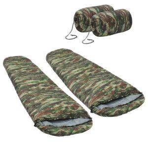 2 Sacos-cama leves 15 ℃ 850 g camuflagem - PORTES GRÁTIS