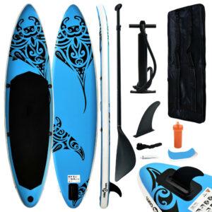 Conjunto prancha de paddle SUP insuflável 366x76x15 cm azul - PORTES GRÁTIS