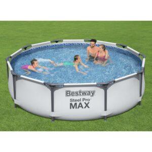 Conjunto de piscina Steel Pro MAX 305x76 cm - PORTES GRÁTIS