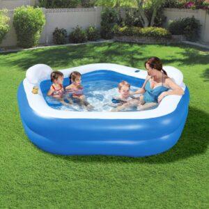 Family Fun Lounge Pool 213x206x69 cm - PORTES GRÁTIS