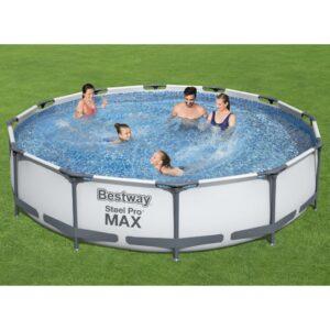 Conjunto de piscina Steel Pro MAX 366x76 cm - PORTES GRÁTIS