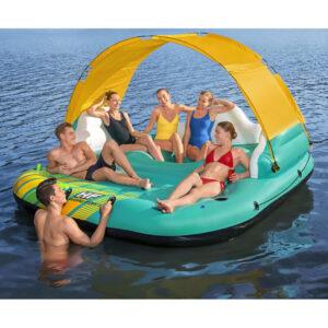 Ilha insufável Sunny Lounge para 5 pessoas 291x265x83 cm - PORTES GRÁTIS