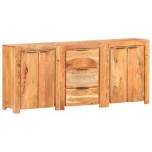 Aparador com 3 gavetas e 4 portas madeira de acácia maciça - PORTES GRÁTIS