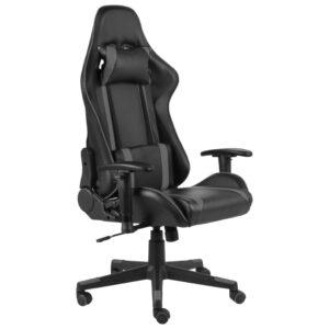 Cadeira de gaming giratória PVC cinzento - PORTES GRÁTIS