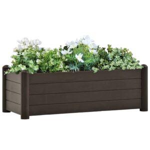 Canteiro elevado para jardim PP 100x43x35 cm moca - PORTES GRÁTIS