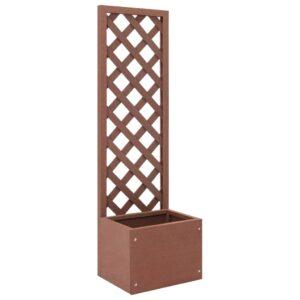 Vaso com treliça WPC 40x30x135 cm  - PORTES GRÁTIS