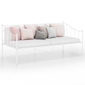 Sofá-cama 90x200 cm metal branco - PORTES GRÁTIS