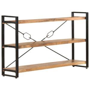 Estante c/ 3 prateleiras 140x30x80 cm madeira de acácia maciça  - PORTES GRÁTIS