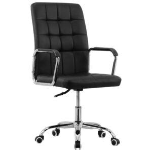 Cadeira de escritório giratória tecido preto - PORTES GRÁTIS