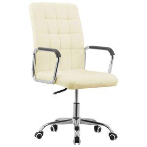 Cadeira de escritório giratória tecido cor creme - PORTES GRÁTIS