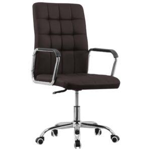 Cadeira de escritório giratória tecido castanho - PORTES GRÁTIS